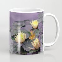 tinker bell Mugs featuring tinker bell & tiger lilies by EnglishRose23