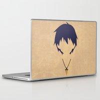 gurren lagann Laptop & iPad Skins featuring Minimalist Simon by 5eth
