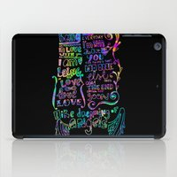 lettering iPad Cases featuring Lettering Lyrics by Insait disseny