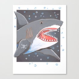Hark a Shark Canvas Print