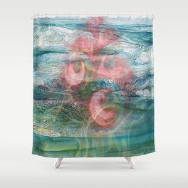 Coral of the Sea Shower Curtain