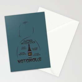 Notorious!, Alfred Htichcock, minimal movie poster, Cary Grant, Ingrid Bergman, classic cinema, film Stationery Cards