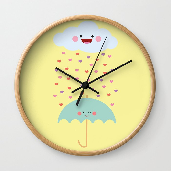 Love Rain Wall Clock