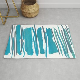 2  |  190408 Blue Abstract Watercolour Rug