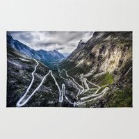 norway Area & Throw Rugs featuring Trollstigen, Norway. by Ar Ling Landscape photography