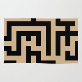 Black and Tan Brown Labyrinth Rug
