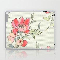Vintage Floral Green Dot Laptop & iPad Skin