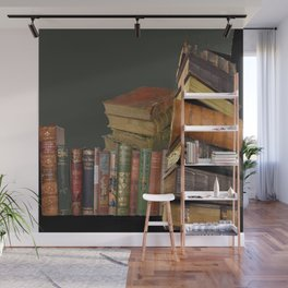 DECORATIVE  ANTIQUE LIBRARY, LEDGERS &  BOOKS ART Wall Mural