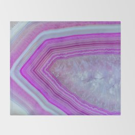 Pink Bubblegum Agate Throw Blanket