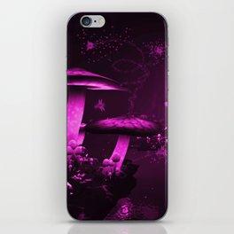 Glowing Purple  Mushrooms iPhone Skin