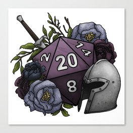 Fighter Class D20 - Tabletop Gaming Dice Canvas Print