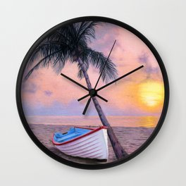 Tropical Escape Wall Clock