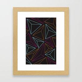 Triangle Pattern Framed Art Print
