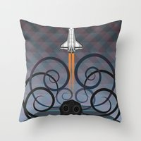 gravity Throw Pillows featuring Gravity by milanova