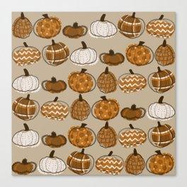 Pumpkin Party in Almond Canvas Print