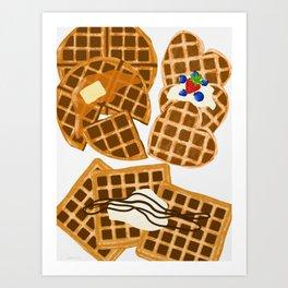 Waffle On Kunstdrucke
