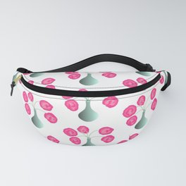 Vase With Pink Flowers Fanny Pack