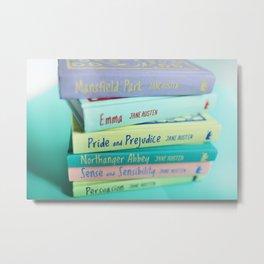 Jane Austen Books Metal Print