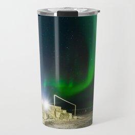 Northern Lights at the North Cape Norway Travel Mug