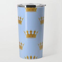 Louis Blue Gold Crown Prince of Cambridge Travel Mug