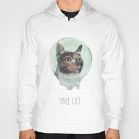 space cat Hoodies featuring Space Cat by MaryAube