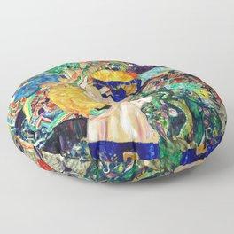 Gustav Klimt Baby in Cradle, 1917/1918 Floor Pillow