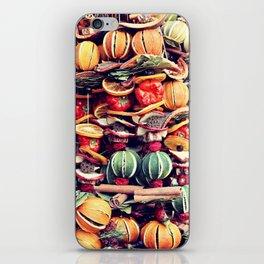 Christmas market decoration iPhone Skin