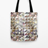 newspaper Tote Bags featuring Newspaper by FakeFred