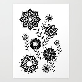 Geometric Flowers number 2 Art Print