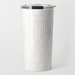 Simply Mid-Century in White Gold Sands Travel Mug