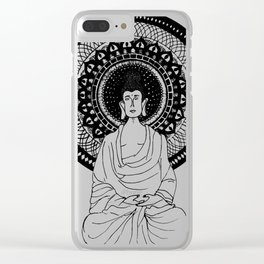The Monk- White Clear iPhone Case