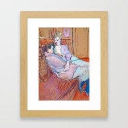 """Henri de Toulouse-Lautrec """"The Two Friends"""" Framed Art Print"""