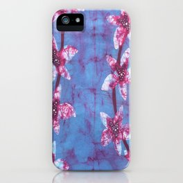 Orchid flowers in Blue and Purple iPhone Case