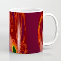 will graham Mugs featuring glowing hand of mark c. graham by donphil