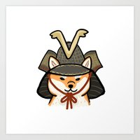 shiba inu Art Prints featuring Shiba Inu by Lottie