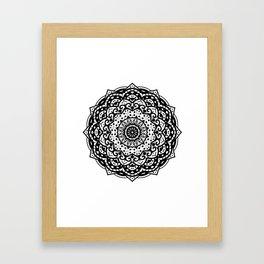 Hand Drawn Mandala Illustration Framed Art Print