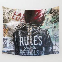 Rules Create Rebels Wall Tapestry