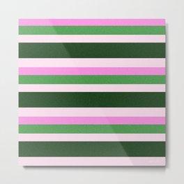 Pink Roses in Anzures 1 Stripes 4H Metal Print