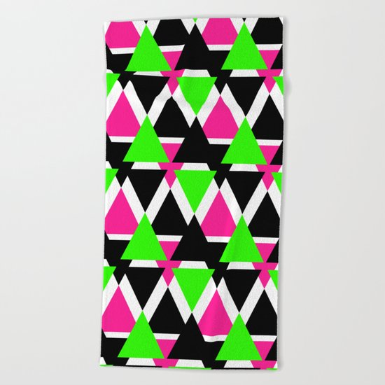 Colorful triangles . No. 2 Beach Towel