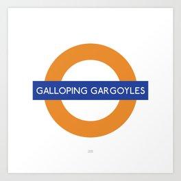 Galloping gargoyles Art Print