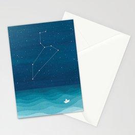 Leo zodiac constellation Stationery Cards