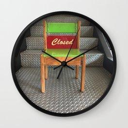 Closed Chair Wall Clock