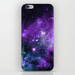 Purple Teal Green Carina Nebula iPhone Skin