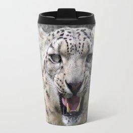 Angry snow leopard Travel Mug
