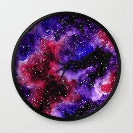 Purple Nebula Wall Clock