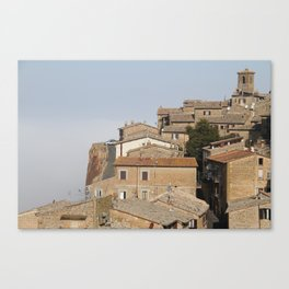 Village in the clouds Canvas Print