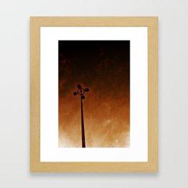 Inferno of Lights Framed Art Print