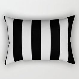 Black and Gray Vertical Stripes Rectangular Pillow