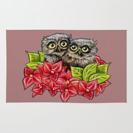 Baby Owls on a Branch Rug