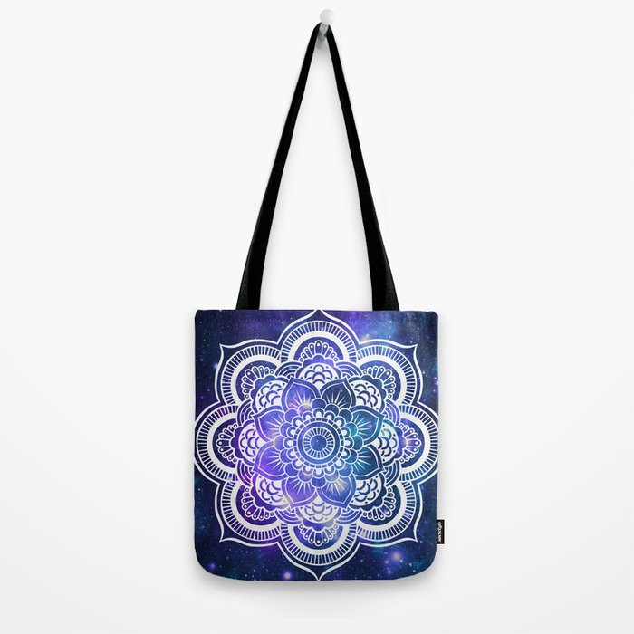 Mandala: Violet & Teal Galaxy Tote Bag